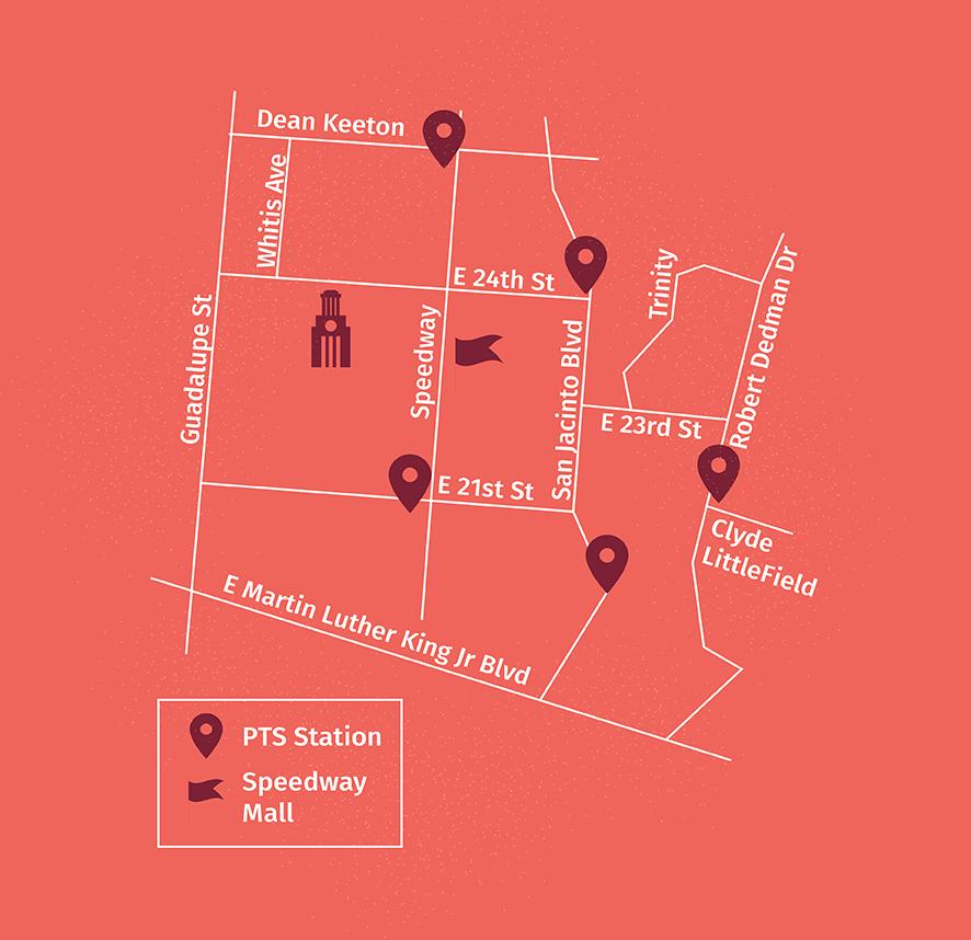 bike to UT Day 2019 Map