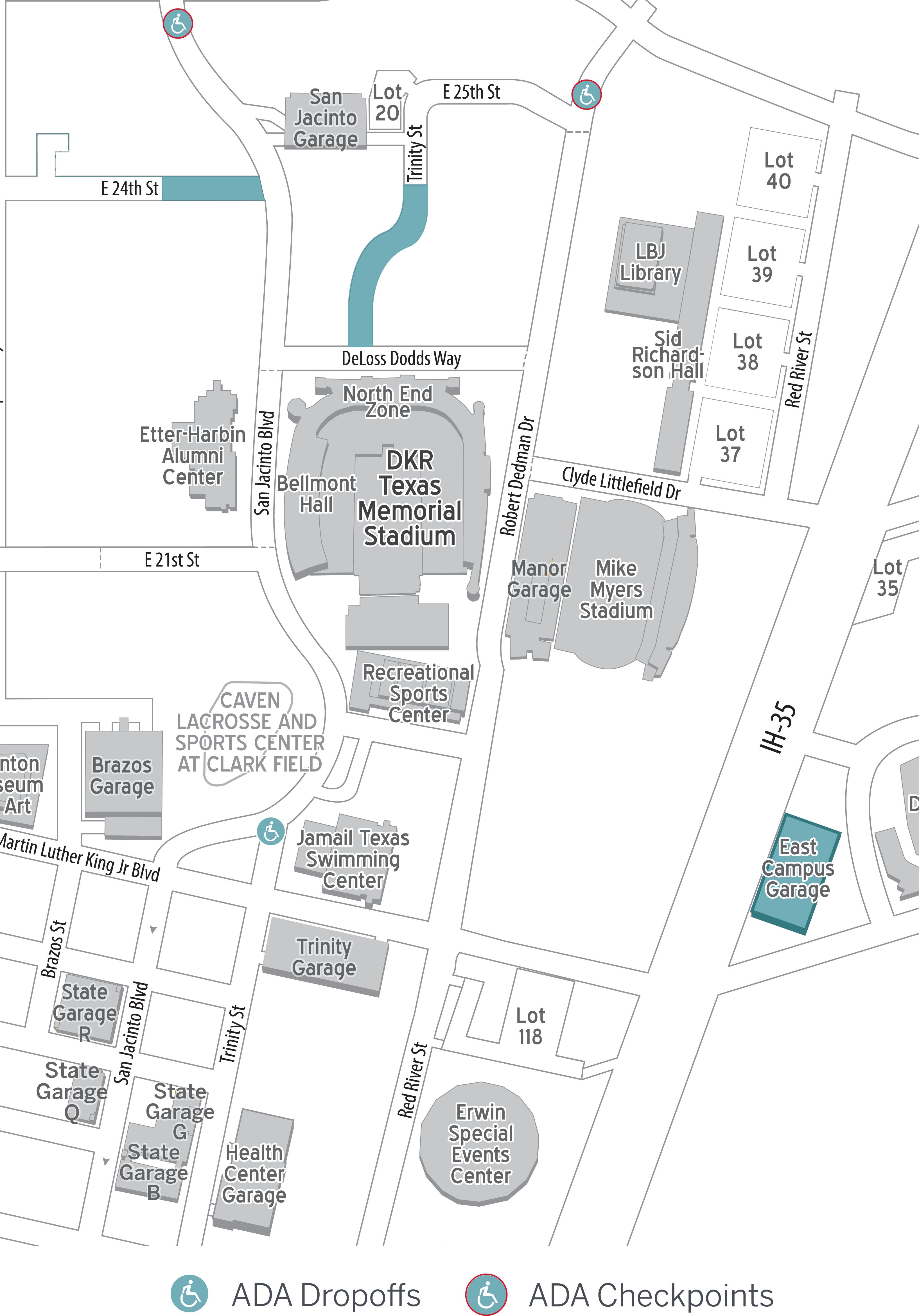 Football ADA Parking Map 2021