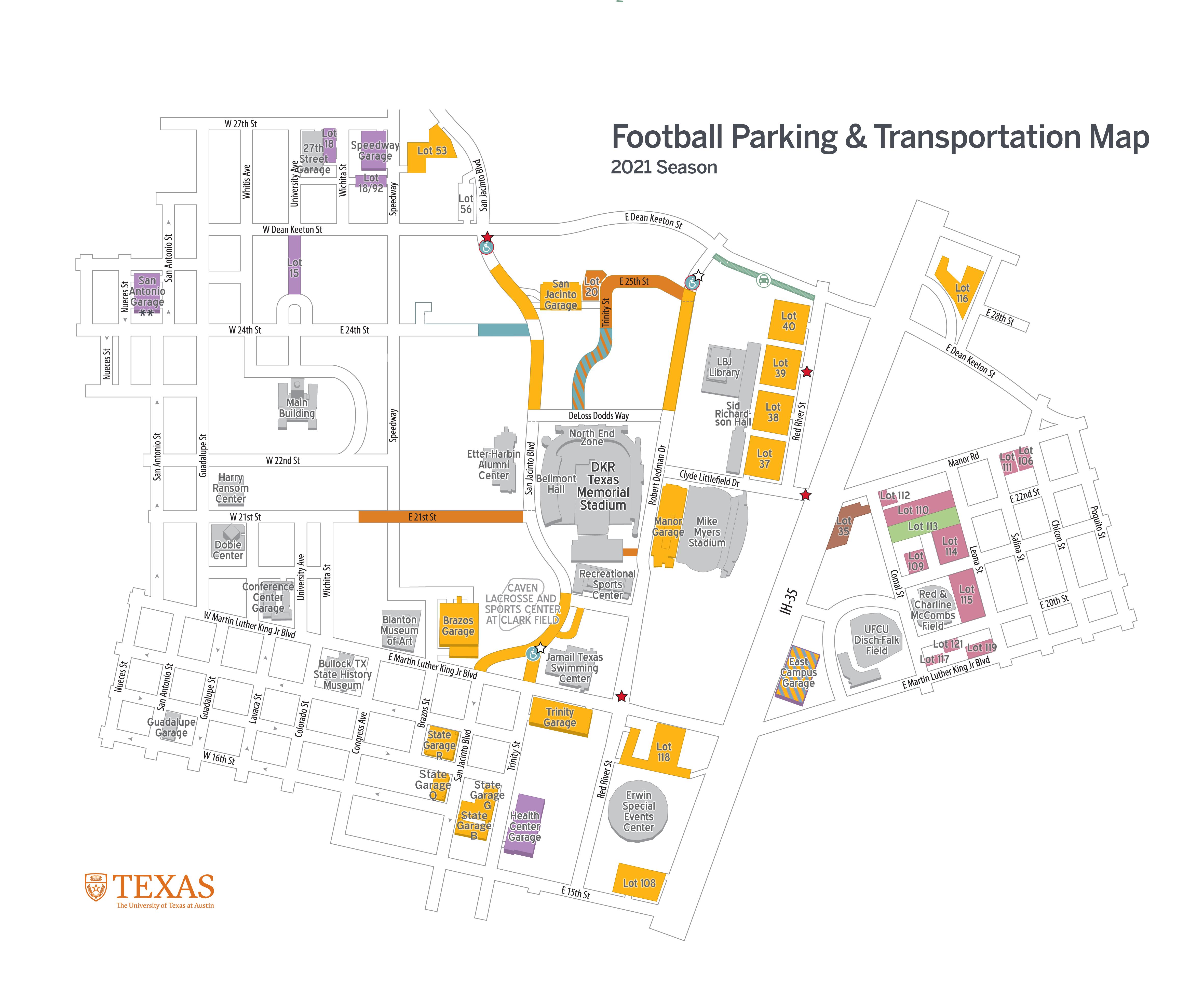 Football Parking Map 2021