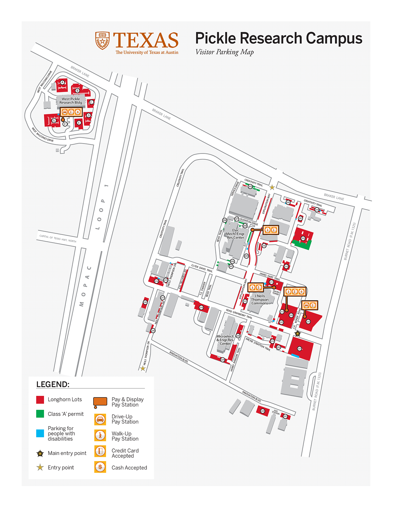 Pickle Research Campus (PRC) & West Pickle Research Building (WPR) Maps