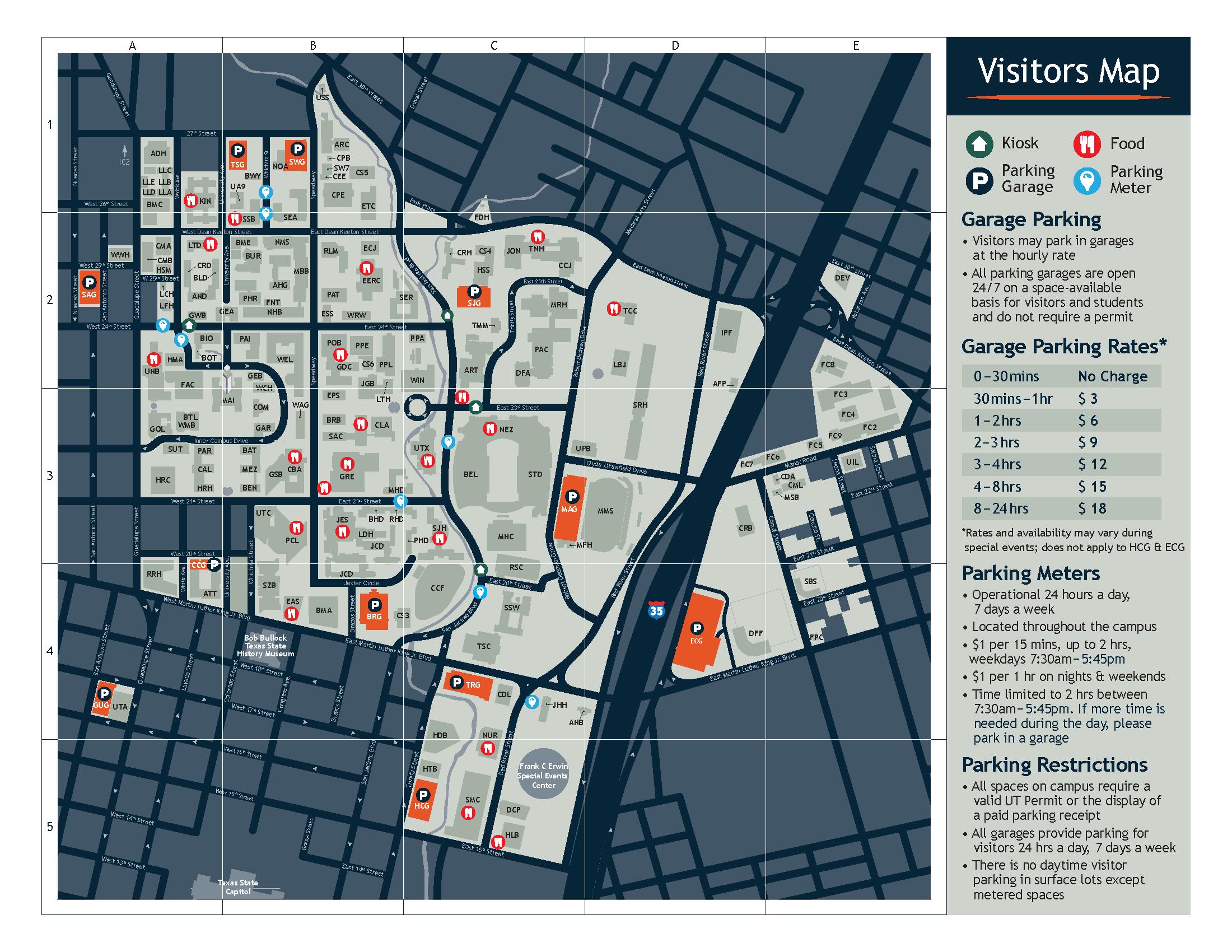 Visitors Parking Map