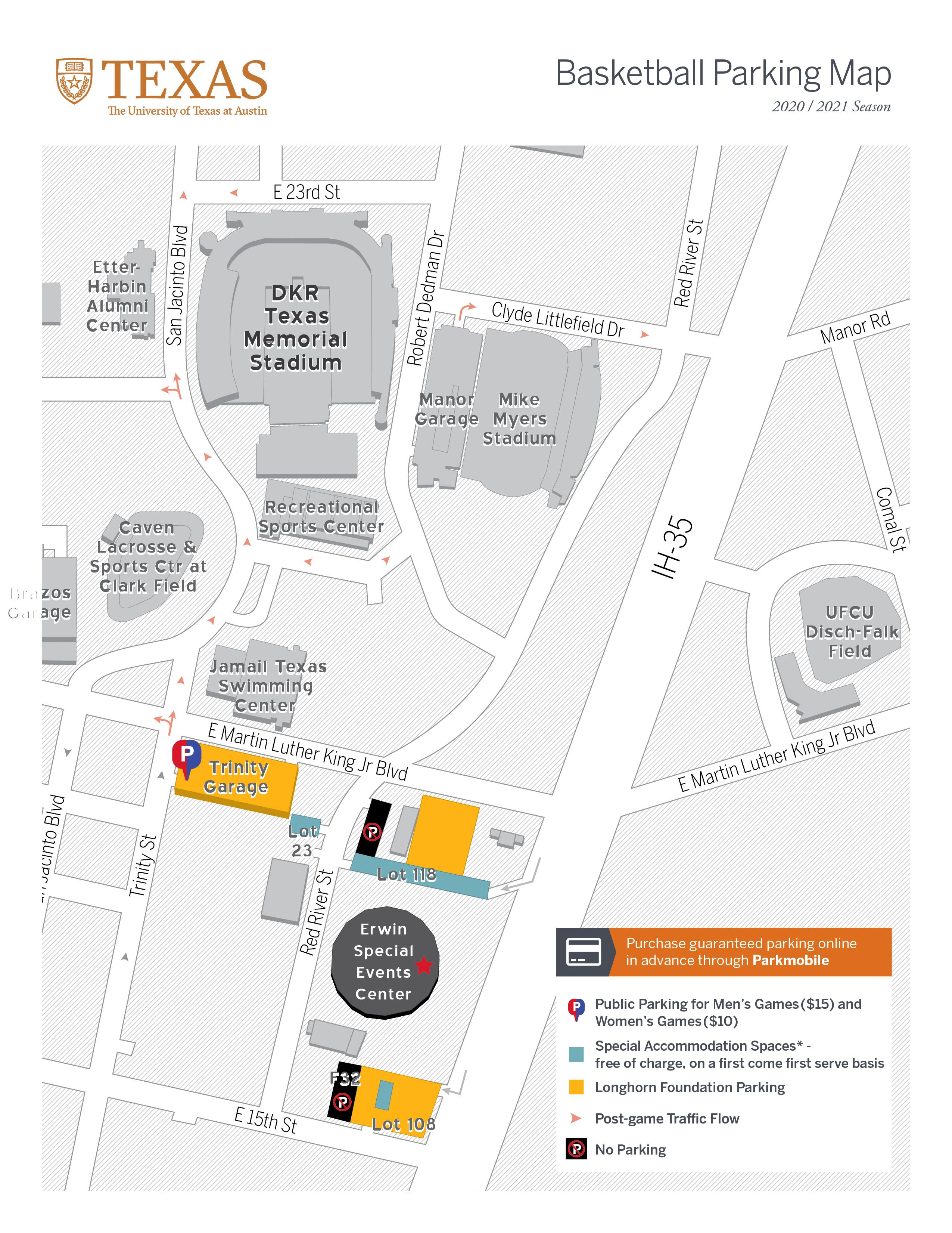 basketball parking map 2020