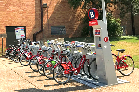 BCycle station by the Art Building