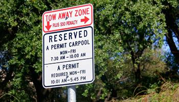 carpool parking sign