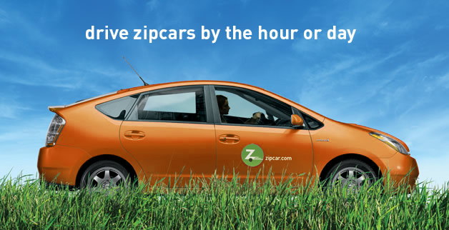 Join Zipcar and get $25 free driving in the tank.