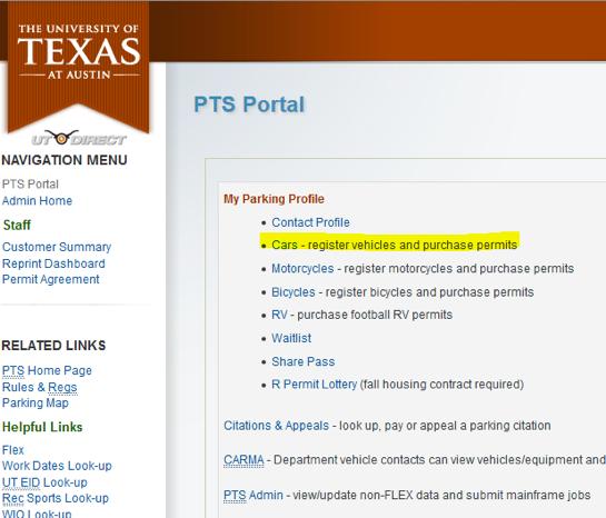 PTS portal