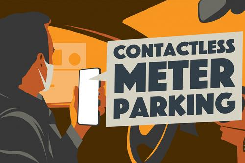 Contactless meter parking