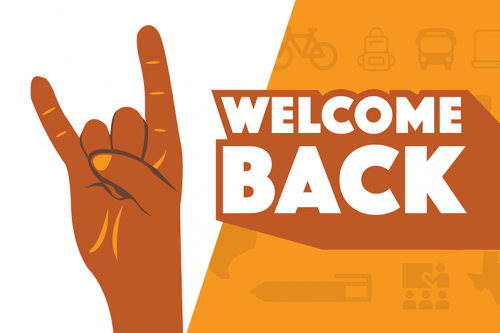 welcome back small banner illustration
