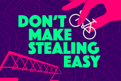 Free Bike Registration. Don't make stealing easy