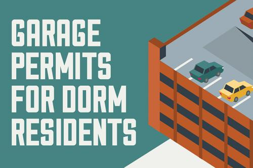 Garage Permits for Dorm Residents