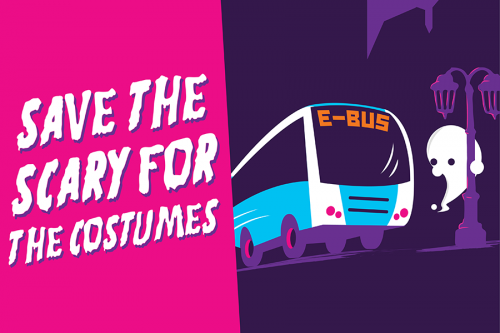 save the scary for the costumes halloween Ebus